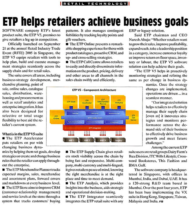 ETP Helps retailers achieve business goals