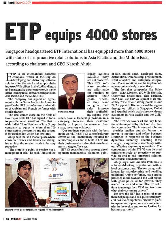 ETP equips 4000 stores
