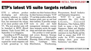 ETP's Latest V5 Suite Targets Retailers