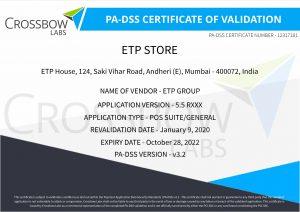 PCI PA DSS Certificate