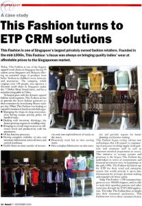 This Fashion Turns To ETP CRM Solutions