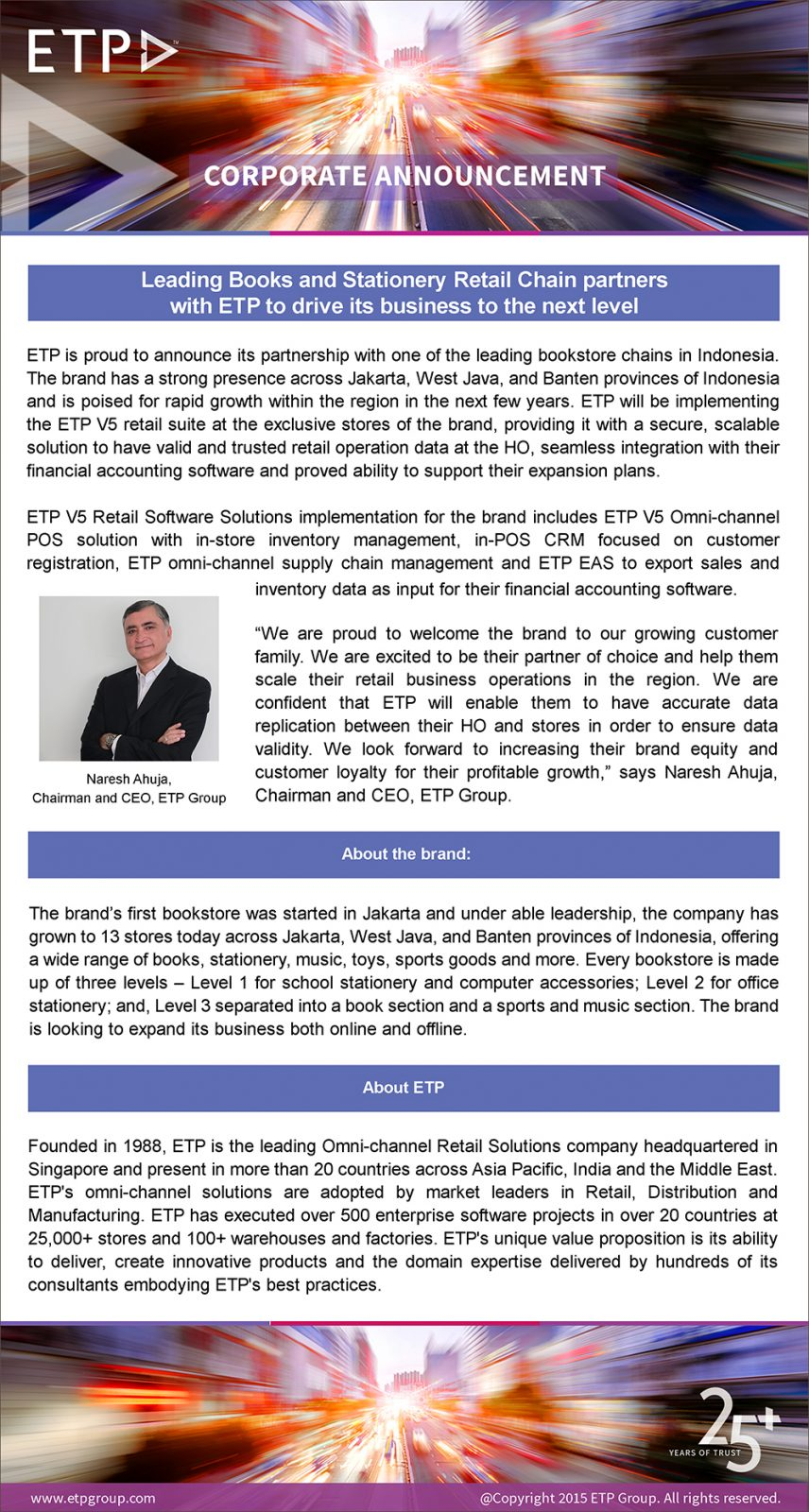 Leading Books and Stationery Retail Chain partners with ETP to drive its business to the next level