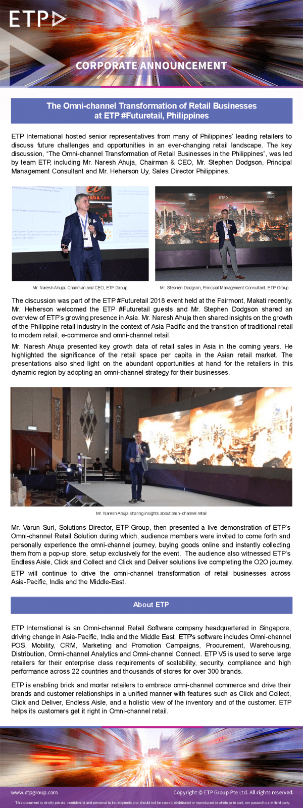 ETP #Futuretail, Philippines