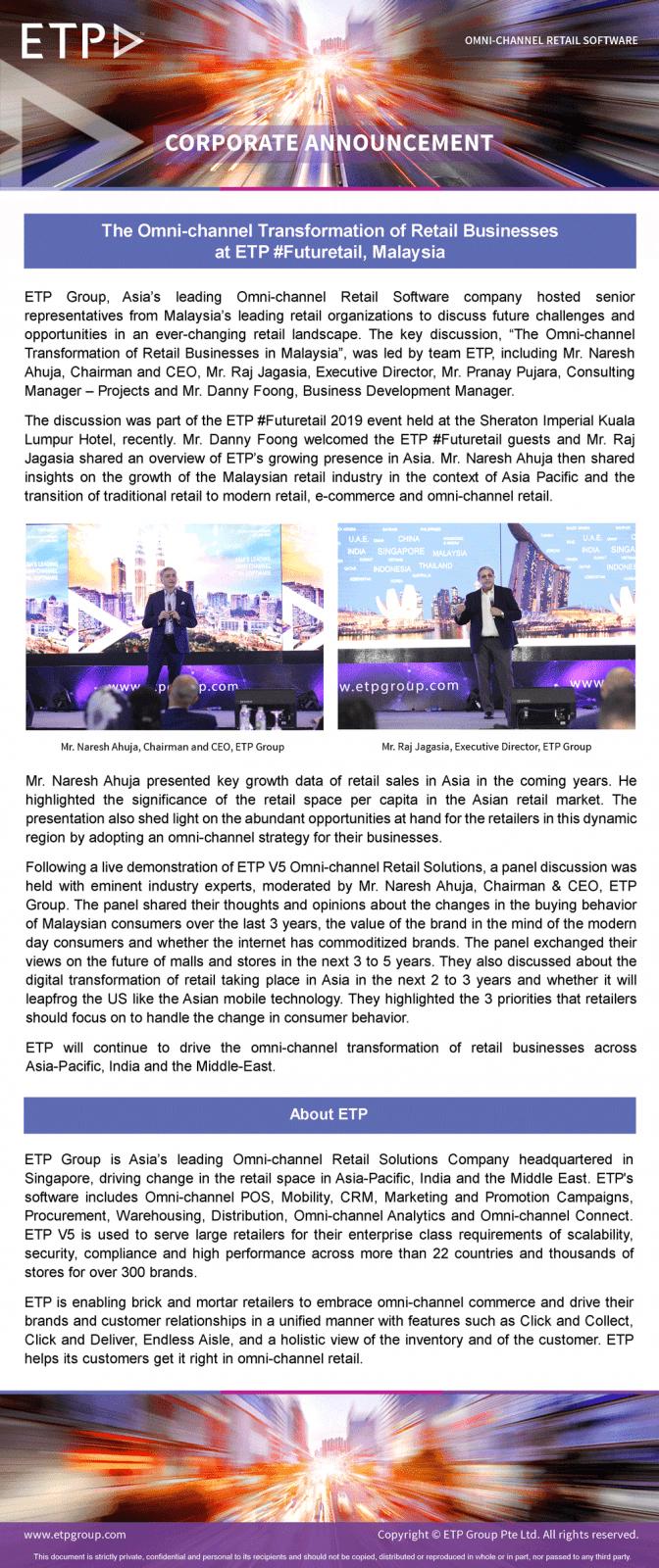 ETP Futuretail Malaysia